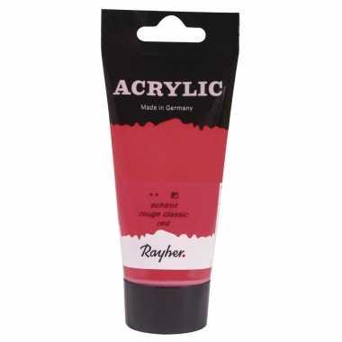 Rode acrylverf/hobbyverf op waterbasis 75 ml