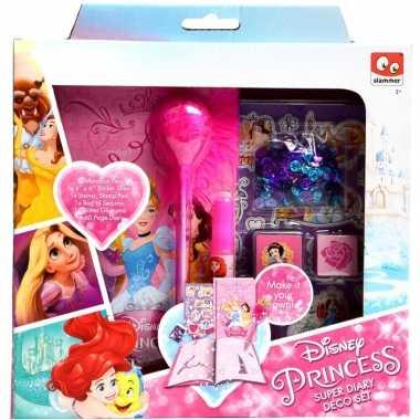Roze disney prinsessen dagboekje zelf maken voor meisjes ariel/assepoester/belle/rapunzel/sneeuwwitje