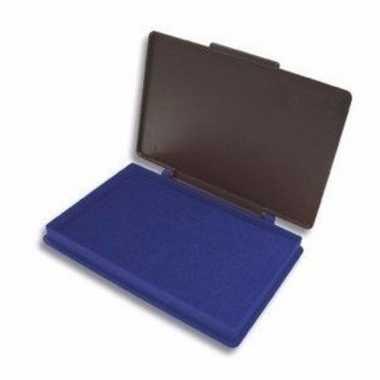 Stempel kussen blauw 7 x 11 cm