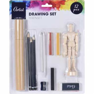 Tekenen met houtskool en potloden