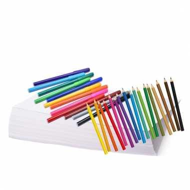 Tekenset met potloden en stiften