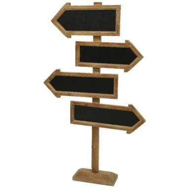 Wegwijzer krijtbord met 4 pijlen van 57 x 96 cm