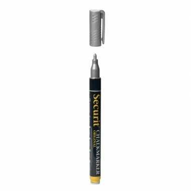 Zilveren schoolbord krijtstift ronde punt 1-2 mm