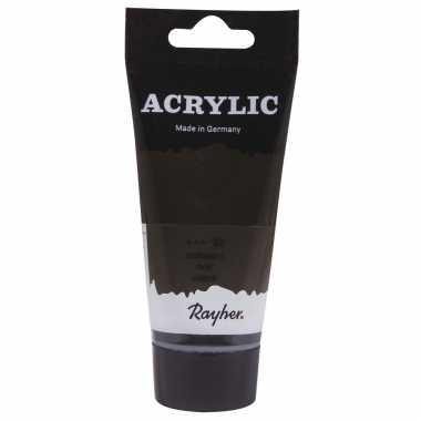 Zwarte acrylverf/hobbyverf op waterbasis 75 ml