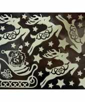 1x kerst raamversiering glow in the dark raamstickers 29 5 x 40 cm