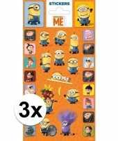 3 stuks stickers minions