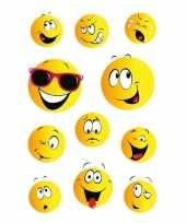 33x smiley stickertjes voor kinderen