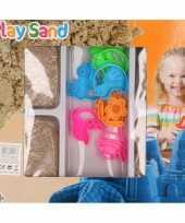 4x speelzand magisch zand 250 gram met 8 zandvormen