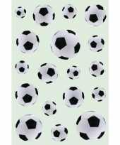 54x zwart witte voetbal stickertjes voor kinderen