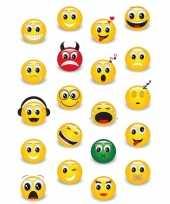 60x emoji stickertjes voor kinderen