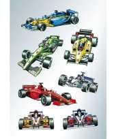 63x raceauto stickertjes voor kinderen