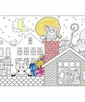 6x sinterklaas kleurplaat placemats voor 5 december