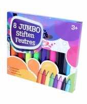 8x gekleurde jumbo stiften markers