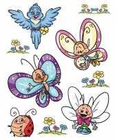9x raamstickers vlinders raamdecoratie