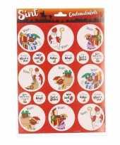 9x sint en piet cadeau stickers