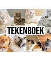 A4 katten waaier schetsboek tekenboek kleurboek schetsblok wit papier