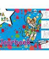 A4 kleurplaten kleurboeken blauw 24 vellen