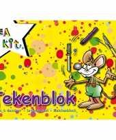 A4 schetsboeken tekenboeken geel 24 vellen