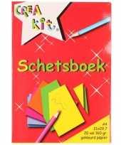 A4 schetsboeken tekenboeken gekleurd papier 20 vellen