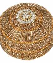 Bewaardoosje goud indiaanse stijl 8 cm 10084651