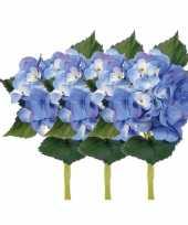 Blauwe kunst hortensia 48 cm