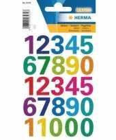 Cijfer stickers kleuren 1 vel