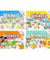 Gekleurde autoraam stickers boekjes 4 stuks