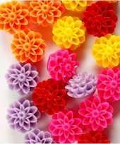 Gekleurde bloemenkralen 20 stuks
