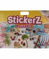 Gekleurde strand autoraam stickertjes