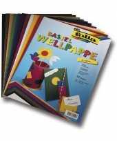 Hobby ribbel karton gekleurd 10 vellen