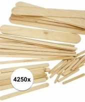Houten knutselijsstokjes 4250 stuks
