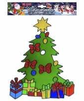 Kerstboom raamsticker herbruikbaar