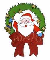 Kerstman raam sticker 30 cm