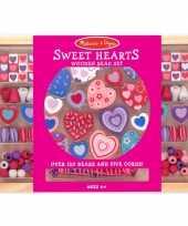 Kinder kralen pakket met hartjes