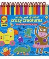 Kleurboek met krijtjes