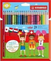 Knutselmateriaal kleurpotloden 24 stuks 10193050