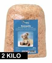 Naturel houtwol 2 kilo vulmateriaal