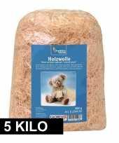 Naturel houtwol 5 kilo vulmateriaal