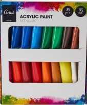 Schilderij knutselen acryl verf tubes