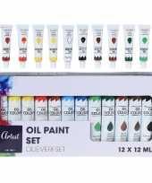 Schilderij knutselen olie verf tubes