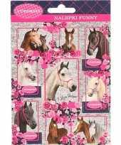 School agenda stickers paarden set 4 10 stuks