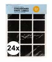 Schoolbord label stickers 24 stuks