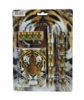Schrijfwaren setje met tijger prent