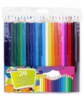 Set van 24x kleurpotloden knutselbenodigdheden