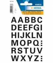Stickervel alfabet stickers zwart 15 mm 32x