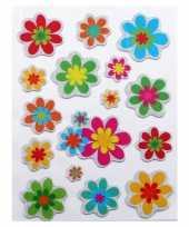 Stickervel met bloemen stickers
