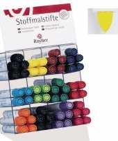 Textiel marker geel met dikke punt