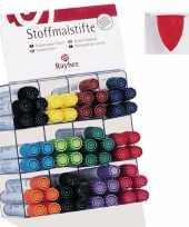 Textiel marker rood met dikke punt