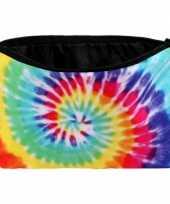 Toilettas regenboog tie dye print