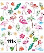 Tropische vogels en deco stickers 111 stuks